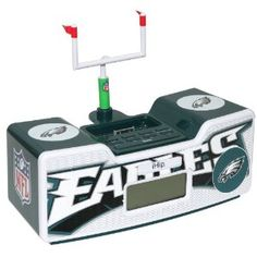 Philadelphia Eagles Dual Alarm Clock Radio w/ iPod Dock
