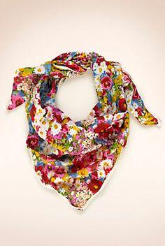 foulard fleuri 100% coton Marks and Spencer