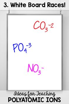 Tips for Teaching Polyatomic Ions - Science and Math with Mrs. Polyatomic Ion, Chemical Equation, Chemistry Notes, Things To Think About, Things To Come, How To Memorize Things, Science, Teaching, Writing