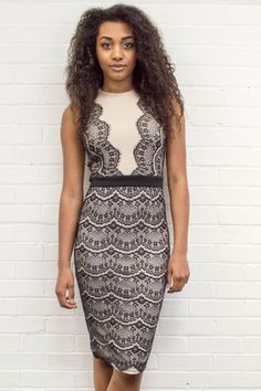 We LOVE our brand new Finia Lace Panel Midi Dress - ONLY £35!! Ideal for a sophisticated look!  Get your's now - www.lovepinkboutique.com/new/finia