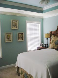 Quietude by Sherwin Williams. Color I'm putting in guest bed and bath.