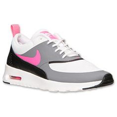 nike air max thea pink and white stripes