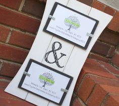 Picture Frame with Ampersand  Distressed by BeneathTheBarkAt825, $28.00