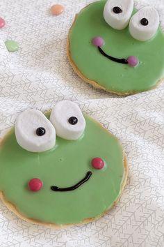 Frosch Amerikaner Rezept - Einfach lecker: Die kleinen Frosch Kuchen sind ein leckeres süßes Fingerfood, das man gut zum Kindergeburtstag backen kann.