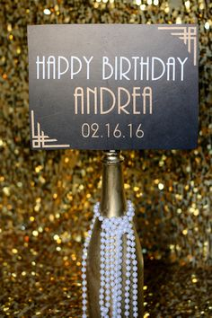 1920s Custom Birthday Sign Prop The Great Gatsby Roaring 20s