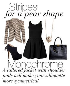"""Dress Stripes for Your Shape: Pear"" by boohoo ❤ liked on Polyvore featuring Boohoo"