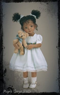 This doll was hand sculpted by Doll Artist Mayra Garza and will be reproduced by Ashton Drake Galleries  http://www.ashtondrake.com/products/301976001_jada-and-teddy-child-doll.html?searchTerm=Mayra%20Garza%20Jada%20And%20Teddy%20Child%20Doll=9047