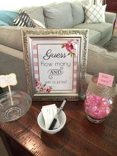Romantic Gold & Pink Baby Shower Baby Shower Party Ideas | Photo 3 of 26