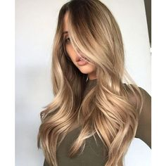55 Honey Hair Color Hairstyles Koees Blog ❤ liked on Polyvore featuring beauty products, haircare, hair color and hair