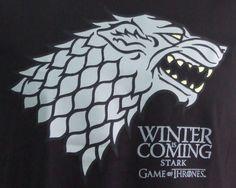 Camiseta Juego de Tronos. Casa Stark, logo