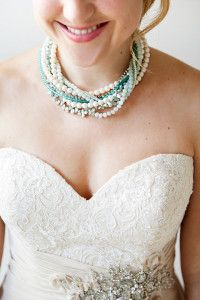 Stunning and one-of-a-kind, this Something Blue Bridal Statement Necklace is the perfect #DIY standout piece to complete your gorgeous #bridal look.