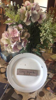Enamel plate magnets Repurposed Items, Farmer, Magnets, Floral Wreath, Enamel, Plates, Wreaths, Home Decor, Isomalt