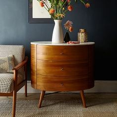 Accent any room of the home with west elm's mid-century modern furniture. Choose from living room pieces, bedroom furniture and dining room sets for your home. Bedroom Dressers, Bedroom Furniture, Home Furniture, Furniture Design, Space Furniture, Furniture Storage, Nightstands, Furniture Ideas, Steel Furniture