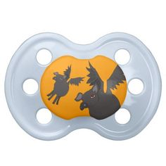 demonic flying pigs baby pacifier