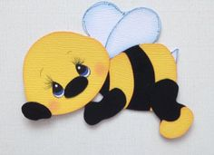 Lazy Bee Insect Animal Premade Paper Piecing Die Cut My Tear Bears Kira Paper Punch Art, Punch Art Cards, Paper Art, Clipart, Baby Bumble Bee, Baby Cards, Kids Cards, Paper Piecing Patterns, Paper Craft Supplies