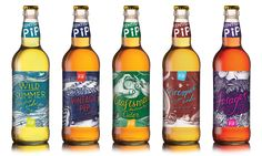 Kentish Pip is a Canterbury-based cider producer. With ambitions to get into the craft cider movement, we helped to breathe fresh life into their brand. Beer Packaging, Beverage Packaging, Brand Packaging, Wine Label Design, Bottle Design, Cider House Rules, Craft Cider, Packaging Design Inspiration, Brand Inspiration