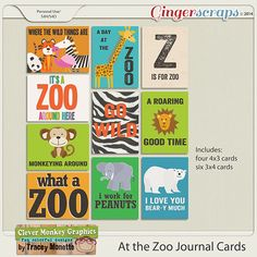 GingerScraps :: Bundled Goodies :: At the Zoo Bundle by Clever Monkey Graphics