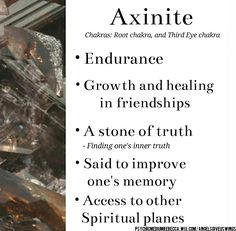 Axinite crystal meaning