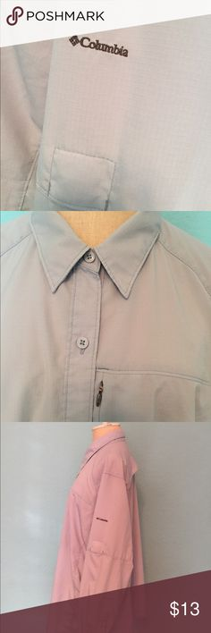 Columbia men's PFG Omni Shade Shirt Lightweight and UV protection. Vented. Breathable. No major flaws. Good condition. One zipper pocket on the left side of the chest area. Columbia Shirts Casual Button Down Shirts