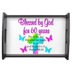 CHRISTIAN 60 YEAR OLD PRAYER SERVING TRAYS http://www.zazzle.com/jlpbirthday/gifts?cg=196545043849107961 #60thbirthday #60yearsold #Happy60thbirthday #60thbirthdaygift #60thbirthdayidea #Christian60th  #happy60th