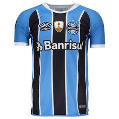 Camisa Umbro Grêmio I 2017 Jogador Libertadores Somente na FutFanatics você compra  agora Camisa Umbro Grêmio ef632b27d11c3