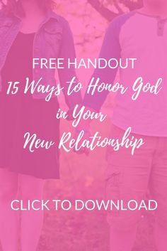 Download this free handout today and start your next relationship on the right track!!  By Selina Almodovar | Christian Relationship Blogger | Christian Relationship Coach