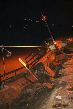 Playa de Miño: Ha caído el muro hasta el restaurante playa