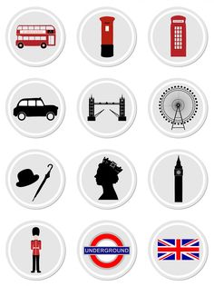 London Icons On Stickers