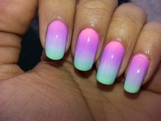 Pastel Gradient Nails!! #gradient #ombre #nailart #nails