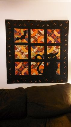 Witch's Window Halloween Wall Hanging Quilt by LacireDesigns, $12.25