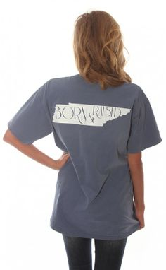 Riffraff | born & raised tee - Tennessee [blue]