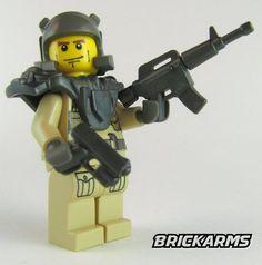 BrickArms M4 Assault Rifle Machine Gun LEGO Minifigure Weapon