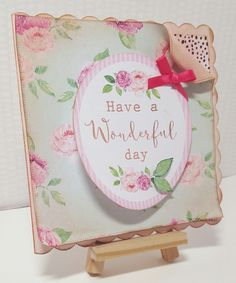 Craftwork Cards Heritage Rose handmade card