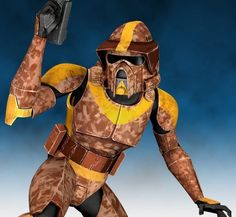 Waxer is a clone trooper who served in Ghost Company, a unit of the Grand Army of the Republic's 212th Attack Battalion. During the Clone Wars, Waxer fought alongside Jedi Generals Obi-Wan Kenobi and Anakin Skywalker in freeing the Togrutan colony world of Kiros from the Separatist Droid Army and later participated in the liberation of the planet Ryloth and its Twi'lek inhabitants. On Ryloth, Ghost Company—led by General Kenobi—was assigned to destroy the Confederate proton cannons in the…
