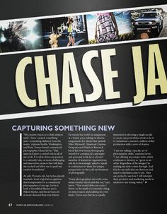 Chase Jarvis Editorial Design by Justin Marimon, via Behance
