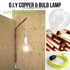Copper and bulb DIY