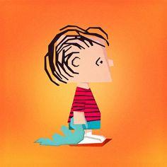 / The Peanuts Gang / on Behance #charliebrown #peanuts #peanutsgang #minimal #art #illustration #comics #linus