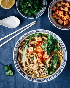 [Guest Post by Christoffer from The Plant Feed. Also on instagram @theplantfeed] Pho with mushrooms, Shiitake, Pak choi, chili marinated tofu and Soba noodles. Vegan Tofu Pho by the Plant Feed Recipe Type: Entree Cuisine: Vegan Author: The Plant Feed Serves: Serves 2... #noodles #pho #soup