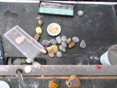 Diamon Engraving and drilling a stone with mini drill - Dremel Bruno De Francesco Art - YouTube