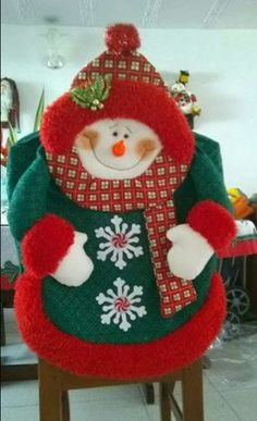 Adornos Christmas Sewing, Christmas Fabric, Felt Christmas, Christmas Projects, Holiday Crafts, Christmas Ornaments, Holiday Decor, Snowman Crafts, Felt Crafts