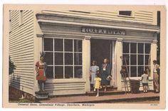 Dearborn Michigan Waterford General Store , Greenfield Village vintage postcard