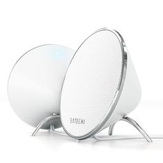 Satechi Dual Sonic Conical Computer Speakers (White) for Apple Macbook Pro , Air / Asus / Acer / Samsung / Dell/ Toshiba / HP / Sony Vaio and