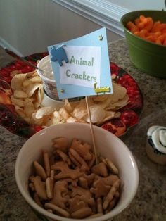 Simple food idea for Jungle Animal Party