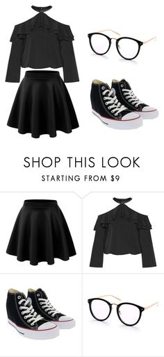 """outfit"" by hjeanb on Polyvore featuring Alice + Olivia and Converse"