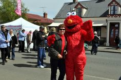 Michelle with her buddy Elmo at the Oatlands Festival.  Article by Michelle Kneipp Pegler.