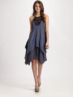 Rebecca Taylor Eyelet Slip Dress