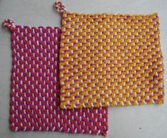 Potholders (double-sided, three coulours) - very easy