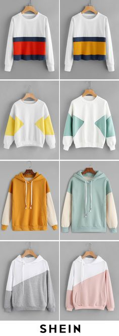 Color Block Sweatshirts