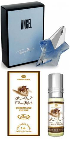 Thierry Mugler Angel + Al Rehab Choco Musk - the CM amps the chocolate note in Angel. The dry down is a lovely vanilla caramel :)