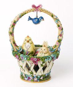 Look what I found on #zulily! Bird Basket Figurine Set by Jim Shore #zulilyfinds
